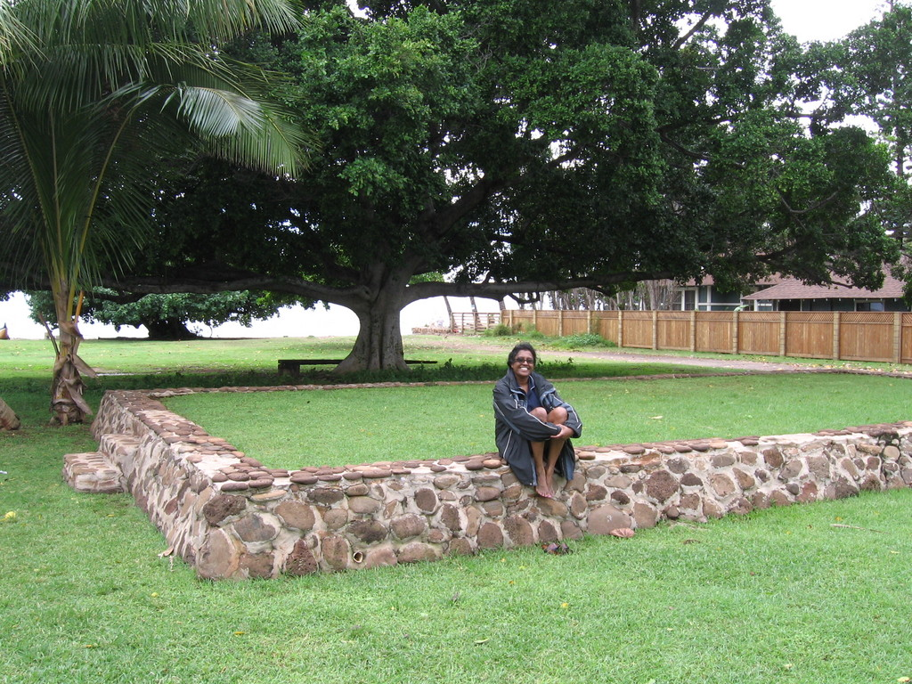 Premila at Kamehamehas palace site