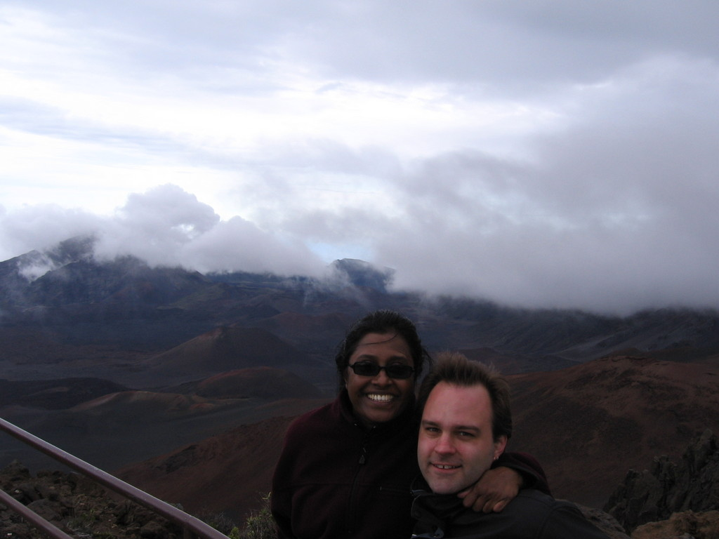Premila and Brandon at Haleakala